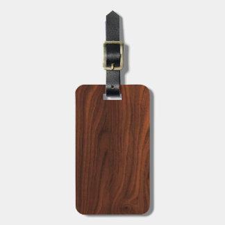 Mirada de madera oscura de Brown Etiquetas Bolsas