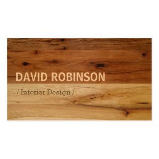 Mirada de madera oscura y ligera del grano plantilla de tarjeta de negocio