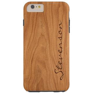 Mirada de madera personalizada - textura de madera funda de iPhone 6 plus tough