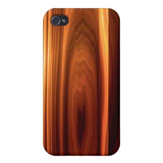 Mirada de madera pulida fresca iPhone 4 cobertura