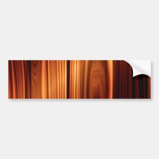 Mirada de madera pulida fresca pegatina para auto