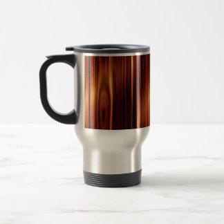 Mirada de madera pulida fresca taza de café