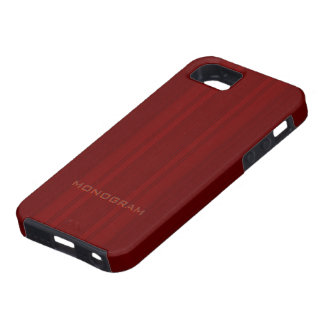 Mirada de madera roja con textura de las rayas ver iPhone 5 Case-Mate protector
