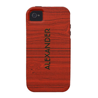 Mirada de madera roja de caoba del grano -