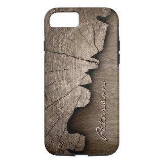 Mirada de madera rústica antigua del grano - funda iPhone 7