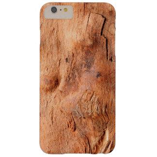 Mirada de madera rústica fresca de la textura - funda para iPhone 6 plus barely there