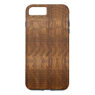 Mirada de madera tribal africana del grano de funda iPhone 7 plus
