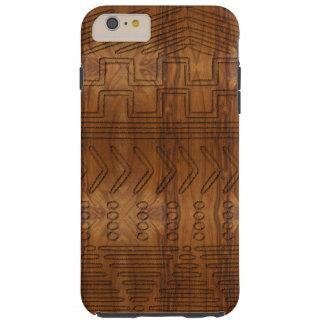 Mirada de madera tribal africana del grano de funda resistente iPhone 6 plus