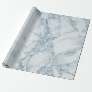 Mirada de mármol azul clara de la textura papel de regalo