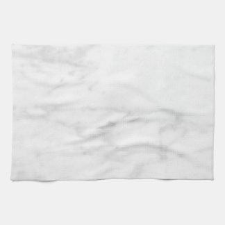 Mirada de mármol blanca toalla de mano