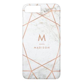 Mirada de mármol con el modelo geométrico del funda iPhone 7 plus