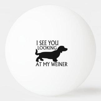 Mirada de mi Weiner Pelota De Ping Pong