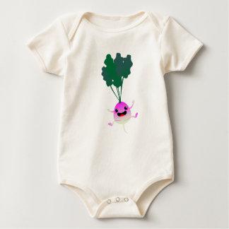 Mirada de OMG en ese pequeño nabo lindo Body Para Bebé