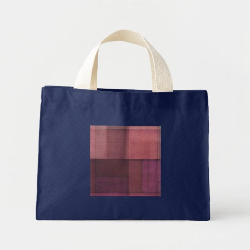 Mirada de papel púrpura bolsa tela pequeña