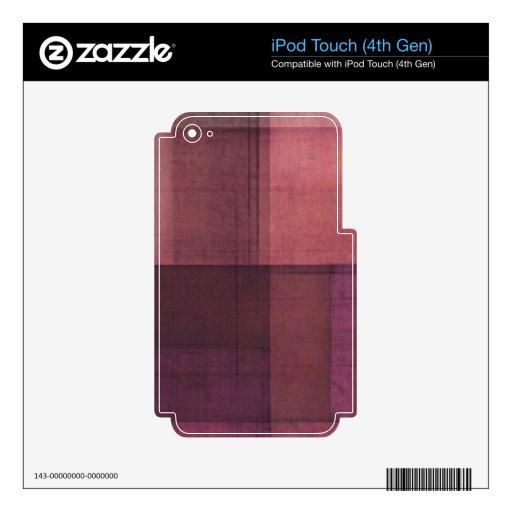 Mirada de papel púrpura skins para iPod touch 4G
