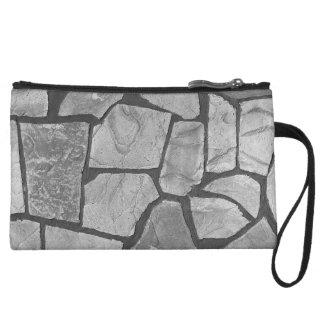 Mirada de pavimentación de piedra gris decorativa