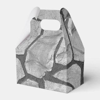 Mirada de pavimentación de piedra gris decorativa caja para regalos