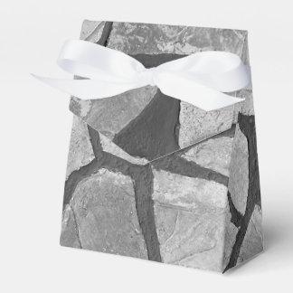 Mirada de pavimentación de piedra gris decorativa caja para regalos de fiestas