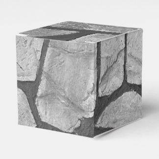 Mirada de pavimentación de piedra gris decorativa cajas para detalles de boda