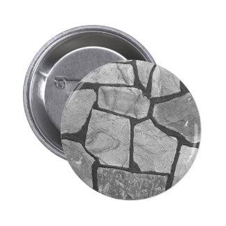Mirada de pavimentación de piedra gris decorativa pin redondo 5 cm