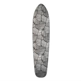Mirada de pavimentación de piedra gris decorativa skate board