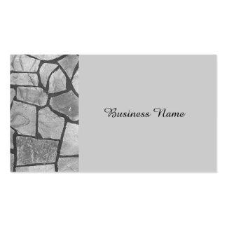 Mirada de pavimentación de piedra gris decorativa tarjetas de visita