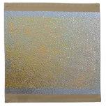 Mirada de plata del modelo de la textura del metal servilletas