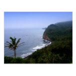 Mirada de Pulolu hacia fuera, postales de Hawaii,