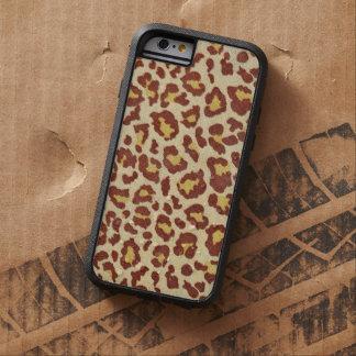 Mirada de Ultrasuede de los puntos del leopardo Funda Para iPhone 6 Tough Xtreme