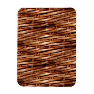Mirada decorativa de la cesta de mimbre