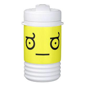 mirada del ಠ_ಠ de la cara divertida del arte del enfriador de bebida igloo