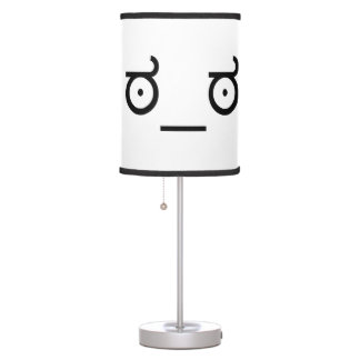 mirada del ಠ_ಠ de la cara divertida del arte del lámpara de escritorio