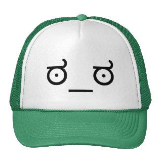 mirada del ಠ_ಠ del arte del texto del Emoticon de Gorras De Camionero