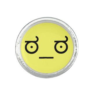 mirada del ಠ_ಠ del arte Fa del texto del Emoticon Anillos Con Foto