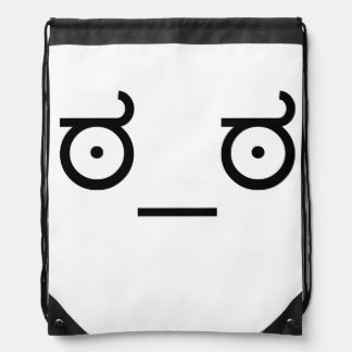 mirada del ಠ_ಠ del arte Fa del texto del Emoticon Mochilas