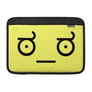 mirada del ಠ_ಠ del Emoticon Tex de la Funda Para Macbook Air