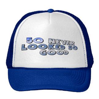Mirada del buen 50.o gorra del cumpleaños