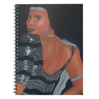 Mirada del buen cuaderno espiral afroamericano