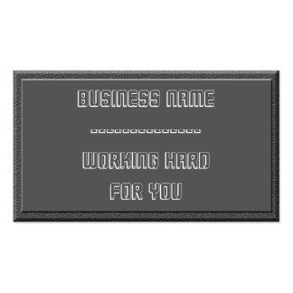 Mirada del cemento y tarjeta de visita rectangular