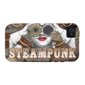 mirada del collage steampunked del steampunk con Case-Mate iPhone 4 funda