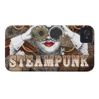 mirada del collage steampunked del steampunk con iPhone 4 Case-Mate fundas