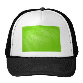 Mirada del cuero de la verde lima (falsa) gorras