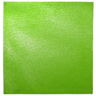 Mirada del cuero de la verde lima falsa servilleta de papel