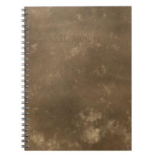 Mirada del cuero del vintage de Brown Cuaderno