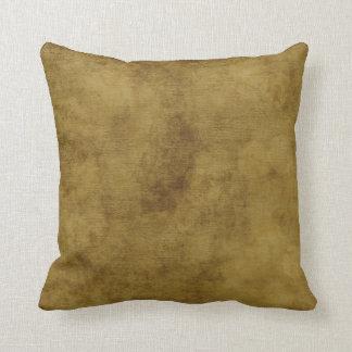 Mirada del cuero del vintage almohada