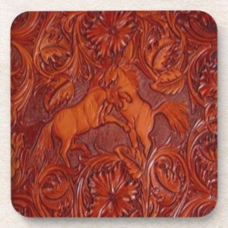 mirada del cuero del wildhorses- posavaso