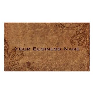 Mirada del cuero repujado corporativa tarjetas de visita