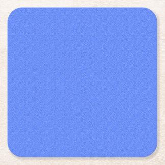 Mirada del dril de algodón del azul de cielo posavasos personalizable cuadrado