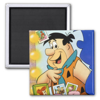 Mirada del Flintstone de Fred en espejo Imán De Frigorífico