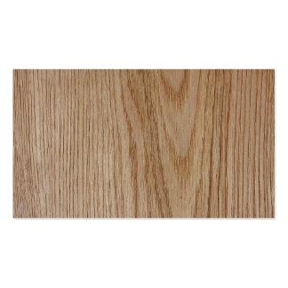 Mirada del grano de madera de roble tarjetas de visita
